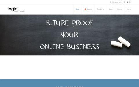Screenshot of Home Page logicecommerce.com - Web Design Belfast | Web Design Northern Ireland | Logic Ecommerce - captured July 15, 2016