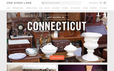 Screenshot of Login Page onekingslane.com - Furniture, Sofas, Rugs, Bedding, Home Decor   One Kings Lane - captured Jan. 10, 2016