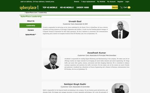 Screenshot of Team Page syberplace.com - SyberPlace.com | Leadership - captured Nov. 19, 2016