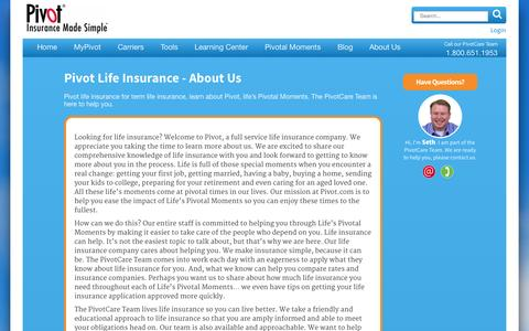 Screenshot of About Page pivot.com - Life Insurance Company: Life Insurance Policies by Pivot - captured Oct. 2, 2014