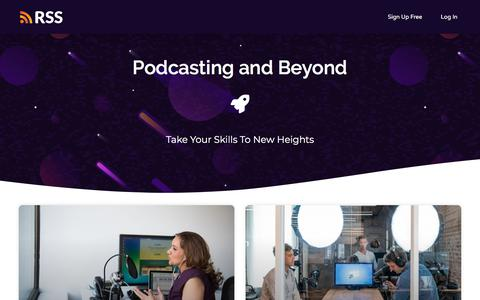 Screenshot of Blog rss.com - RSS Podcasting - The #1 way to publish a podcast - captured Jan. 20, 2020