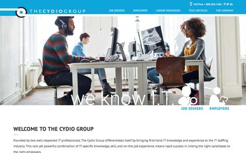Screenshot of Home Page cydio.com - Home - The Cydio Group - captured July 26, 2016