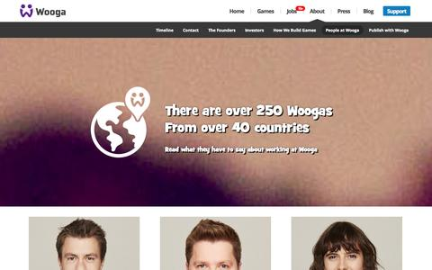 Screenshot of Team Page wooga.com - People at Wooga |  Wooga - captured Sept. 17, 2014