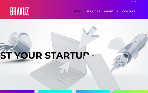 Screenshot of Home Page bravuz.com - StartUp Growth Consulting | Bravuz | Boost Your StartUp! - captured July 13, 2018