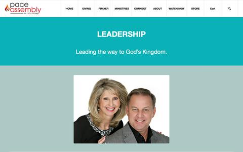 Screenshot of Team Page paceassembly.org - LEADERSHIP – Pace Assembly Ministries - captured Sept. 26, 2018