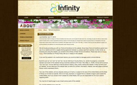 Screenshot of Terms Page infinitylawnandgarden.com - Terms & Conditions - Infinity Lawn & Garden - captured Oct. 6, 2014