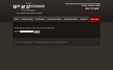 Screenshot of Login Page wmmhotchkiss.com - Client Login - The Wm. M. Hotchkiss Company - captured Oct. 8, 2014