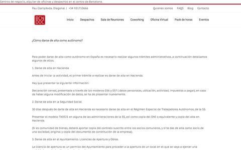 Screenshot of Blog bcndoc.com - BLOG BCNDOC Centro de negocios Barcelona | Centro de negocios Barcelona - captured Nov. 21, 2016