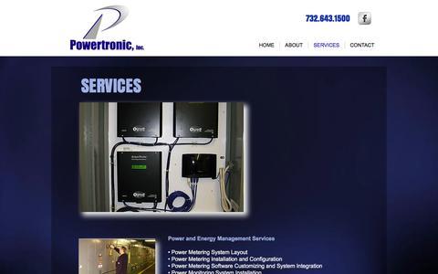 Screenshot of Services Page powertronic.com - Powertronic, Inc. Power-Energy-Electric Services | SERVICES - captured Nov. 10, 2016