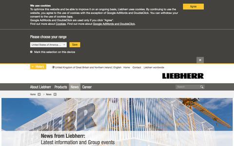 Screenshot of Press Page liebherr.com - News - Liebherr - captured July 10, 2019