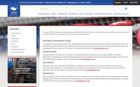 Screenshot of Team Page npeinc.com - National Power Equipment, Inc. - captured Dec. 3, 2016
