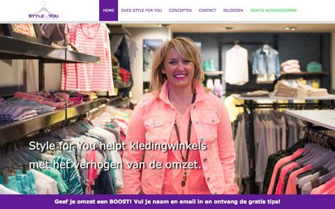 Screenshot of Home Page styleforyou.nl - Home - Style for You - captured Aug. 16, 2015