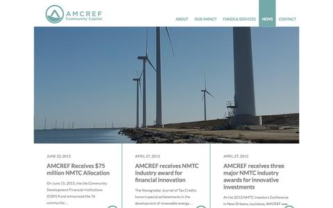 Screenshot of Press Page amcref.com - News – AMCREF Community Capital - captured Feb. 4, 2016