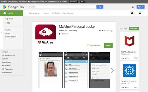 McAfee Personal Locker - Android Apps on Google Play