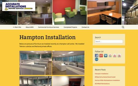 Screenshot of Blog aimsva.com - Accurate Installations & Moving Services | Commercial Furniture Services - captured Oct. 4, 2014