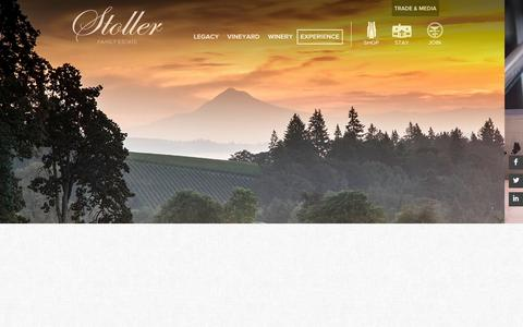 Screenshot of Signup Page stollerfamilyestate.com - Stoller Family Estate. > Experience > Wine Club - captured Nov. 5, 2014