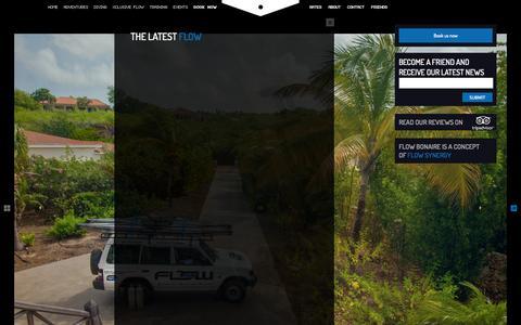 Screenshot of Press Page flowbonaire.com - The latest Flow - - captured Sept. 30, 2014