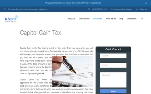 Capital Gains Tax for business
