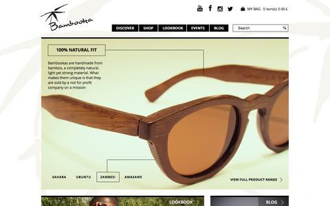 Screenshot of Home Page bambooka.org - | Bamboo Sunglasses & Eyewear From Bambooka - captured Oct. 9, 2017