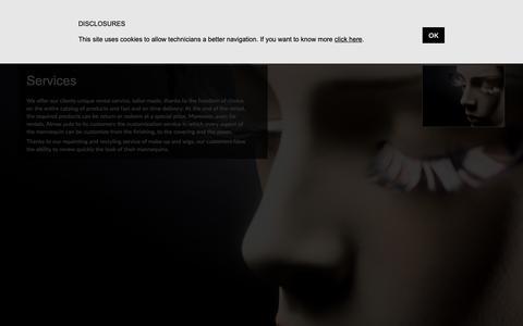 Screenshot of Services Page almax-italy.com - Mannequins rental service   ALMAX - captured Nov. 12, 2018