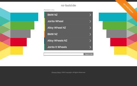 Screenshot of Home Page nz-butzi.de - nz-butzi.de - captured June 11, 2018