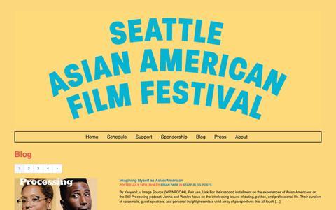 Screenshot of Blog seattleaaff.org - Blog   2018 Seattle Asian American Film Festival - captured Oct. 18, 2018