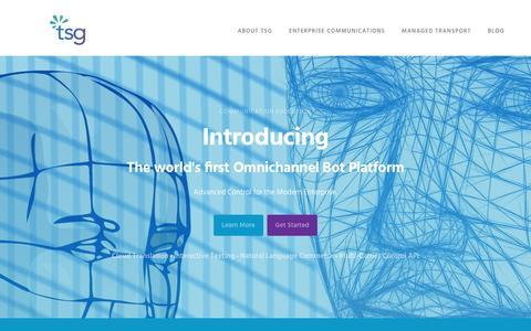 Screenshot of Home Page tsgglobal.com - TSG - More Than A Number - captured Dec. 3, 2016