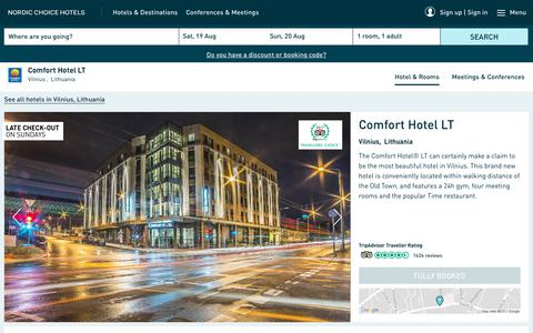 Screenshot of Services Page nordicchoicehotels.com - Range of services | Comfort Hotel LT Vilnius - captured Aug. 18, 2017