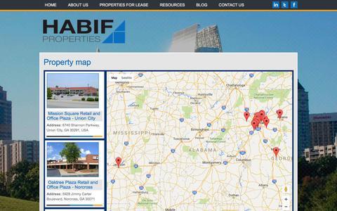 Screenshot of Maps & Directions Page habifproperties.com - Locate Properties by Map | Habif Properties | Habif Properties - captured Jan. 24, 2016