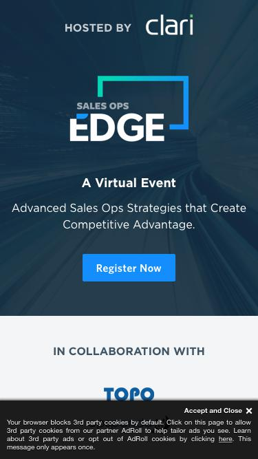 [Virtual Event] Sales Ops Edge