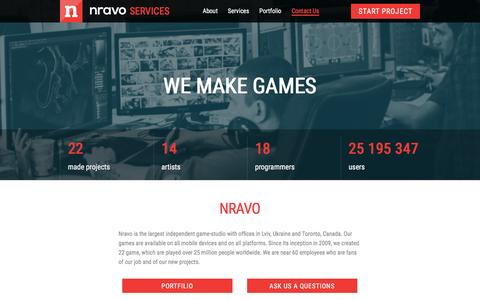 Screenshot of Services Page nravo.com - Services Nravo - captured Jan. 19, 2016