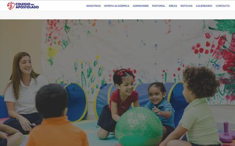 Screenshot of Home Page colegiodelapostolado.edu.do - Colegio del Apostolado – Comunidad educativa fundamentada en valores Cristianos - captured June 29, 2018
