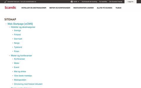 Screenshot of Site Map Page scandichotels.no - Sitemap - captured Nov. 16, 2019