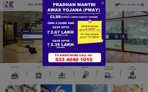 Screenshot of Home Page nkrealtors.com - NK Realtors   Top Real Estate Companies in Kolkata - captured Sept. 19, 2017