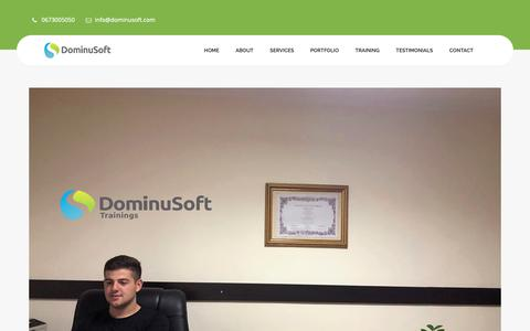 Screenshot of Testimonials Page dominusoft.com - Dominusoft | Testimonials - captured Dec. 9, 2018
