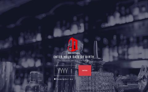 Screenshot of Terms Page devotionvodka.com - Terms - Devotion Vodka - captured Feb. 9, 2016