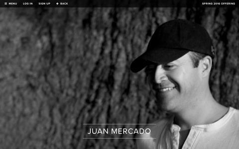 Screenshot of Team Page realmcellars.com - Realm Cellars - Team - Juan Mercado, Founder - captured Dec. 11, 2015