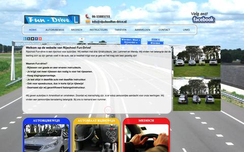 Screenshot of Home Page rijschoolfun-drive.nl - Autorijschool Fun-Drive - Rijschool Fun-Drive - captured March 4, 2016