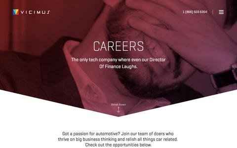 Screenshot of Jobs Page vicimus.com - Careers  |  Vicimus - captured June 4, 2017