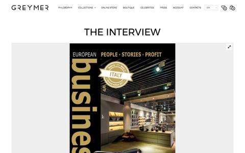 Screenshot of Press Page greymer.it - THE INTERVIEW - Greymer.it - captured May 13, 2017