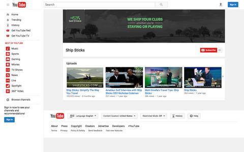 Ship Sticks  - YouTube