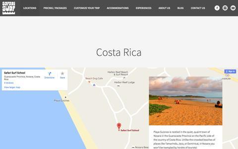 Screenshot of Locations Page safarisurfschool.com - Locations | Safari Surf School - captured Nov. 18, 2016