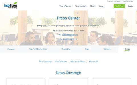 Overview - Press Center  | FreshBooks