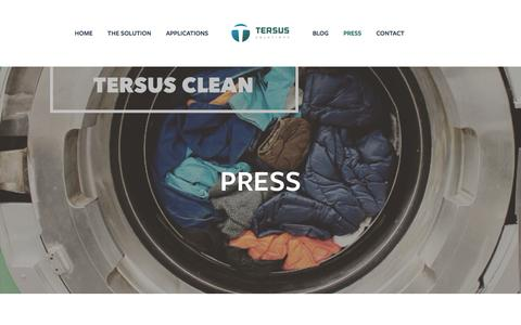 Screenshot of Press Page tersussolutions.com - Press — TERSUS Solutions - captured Oct. 8, 2016