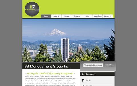 Screenshot of Home Page bbpdx.com - BB Management Group, Inc. | Portland Property Management | Home Page - captured Oct. 5, 2014