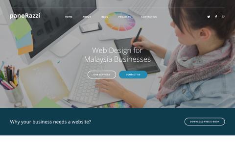Screenshot of Home Page panorazzi.com - panoRazzi - Web Design Malaysia, Online Marketing Malaysia - captured Dec. 13, 2015
