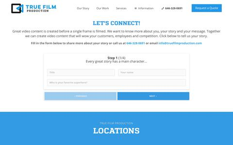 Contact True Film Production | Video Production Company