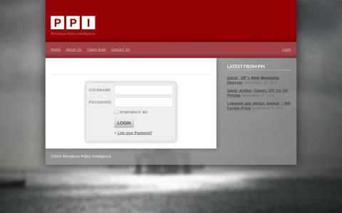 Screenshot of Login Page ppintel.com - PPI » Log in - captured Oct. 2, 2014