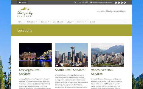 Screenshot of Locations Page uniquelynorthwest.com - Uniquely Northwest  DMC Service Locations l | Uniquely Northwest - captured Oct. 29, 2014
