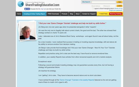 Screenshot of Testimonials Page sharetradingeducation.com - What Others Say About Us - ShareTradingEducation.com - captured Nov. 5, 2018